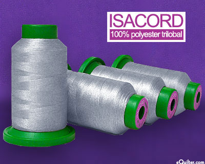 Gray - Isacord Polyester Embroidery Thread - Ash Mist