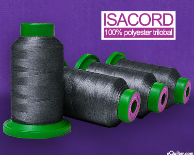 Gray - Isacord Polyester Embroidery Thread - Dark Pewter