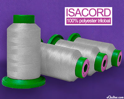 Gray - Isacord Polyester Embroidery Thread - Mystic Gray