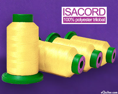 Yellow - Isacord Polyester Embroidery Thread - Daffodil