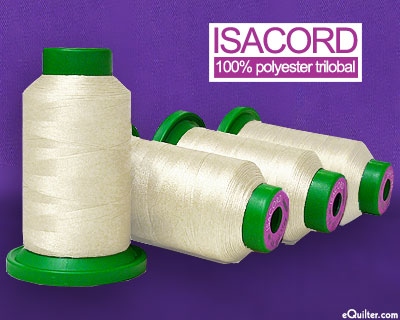 Cream - Isacord Polyester Embroidery Thread - Cream