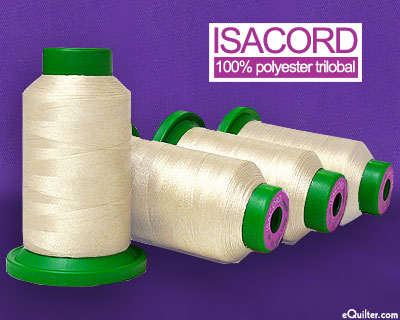 Cream - Isacord Polyester Embroidery Thread - Muslin