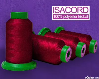 Red - Isacord Polyester Embroidery Thread - 1094 yd - Boreaux