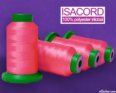 Pink - Isacord Polyester Embroidery Thread - Tropicana