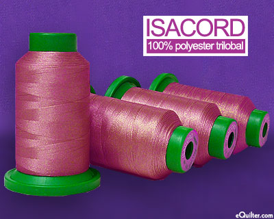 Pink - Isacord Polyester Embroidery Thread - Mauve Rose