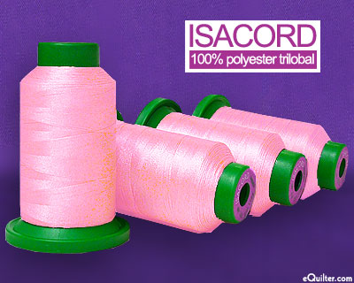 Isacord Polyester Embroidery Thread - Carnation