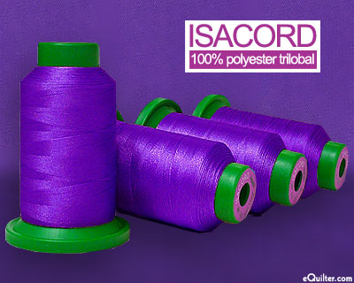 Isacord Polyester Embroidery Thread - Deep Purple