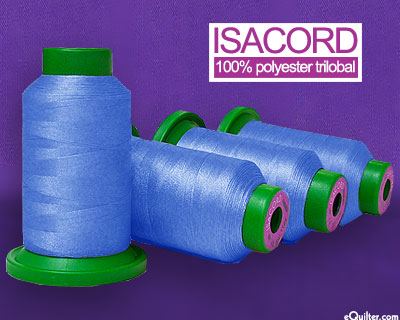 Blue - Isacord Polyester Embroidery Thread - Wedgewood