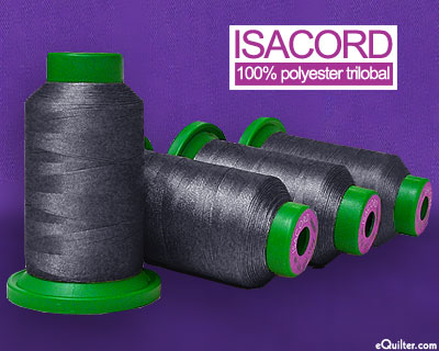 Gray - Isacord Polyester Embroidery Thread - Charcoal