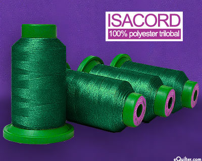 Green - Isacord Polyester Embroidery Thread - Evergreen