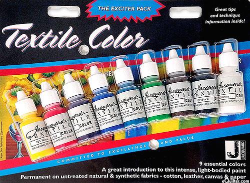 Jacquard Textile Traditionals Pack - 9 Colors - 1/2 oz.