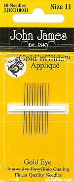John James Gold'n Glide Appliqué Needles - Size 11
