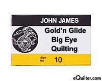 """John James """"Big Eye"""" Quilting Needles - Size 10"""