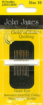 John James Gold'n Glide Quilting Needles - Size 10