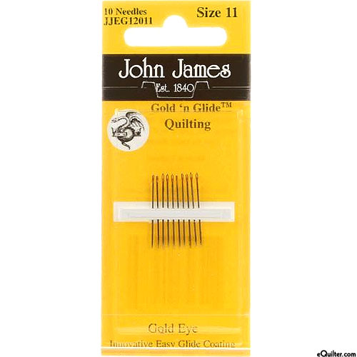 John James Gold'n Glide Quilting Needles - Size 11