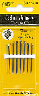 "John James ""Sharps"" Quilting Needles - Size 5/10"