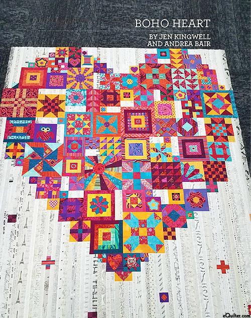 Boho Heart - Applique Quilt Pattern by Jen Kingwell