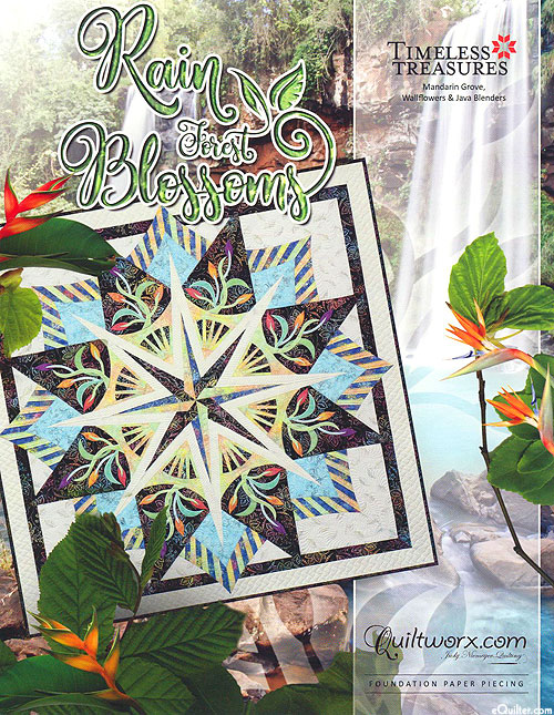 Rain Forest Blossoms - Paper Piecing Pattern by Judy Niemeyer