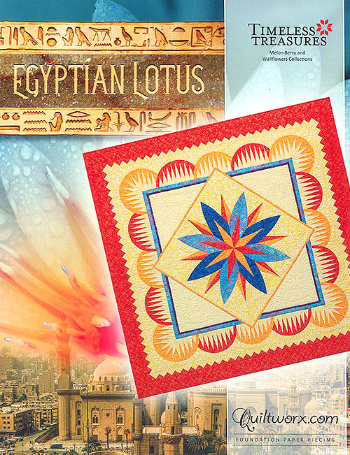 Egyptian Lotus - Paper Piecing Pattern by Judy Niemeyer