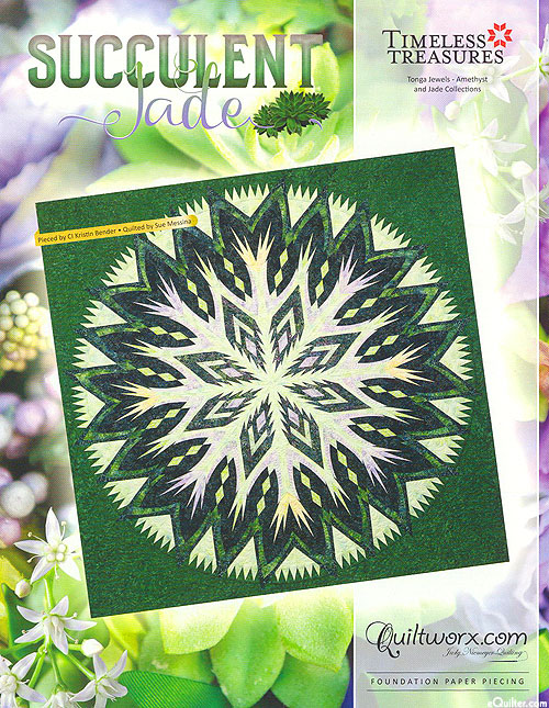 Succulent Jade - Paper Piecing Pattern by Judy Niemeyer