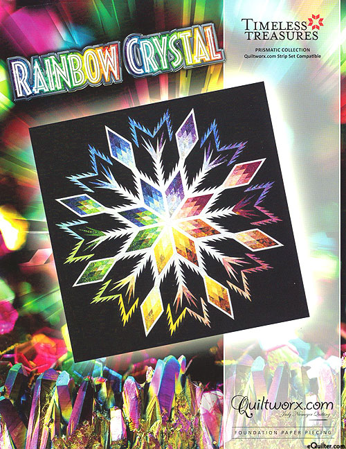 Rainbow Crystal - Paper Piecing Pattern by Judy Niemeyer