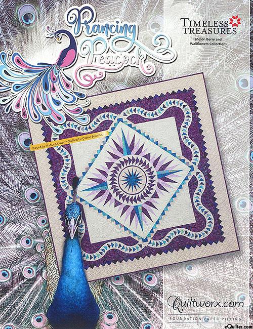 Prancing Peacock - Paper Piecing Pattern by Judy Niemeyer