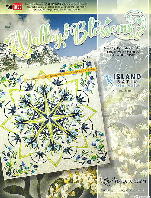 Valley Blossoms - Paper Piecing Pattern by Judy Niemeyer