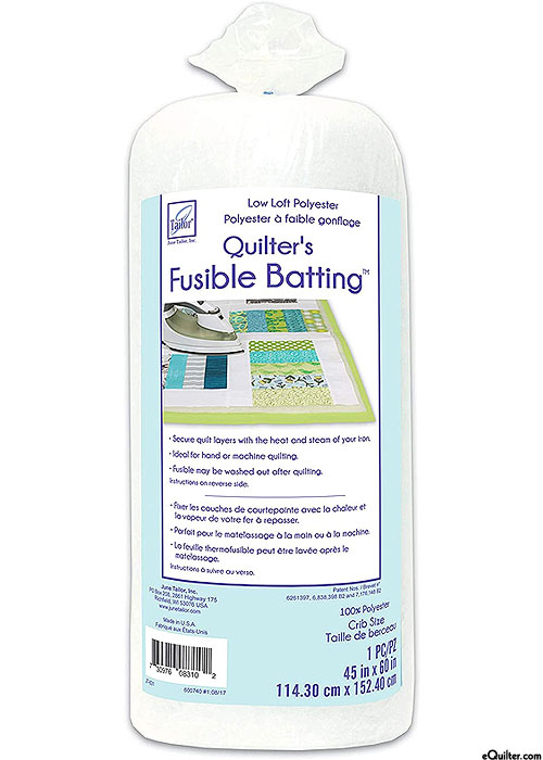 "June Tailor - Quilter's FUSIBLE Batting - Crib 45"" x 60"""