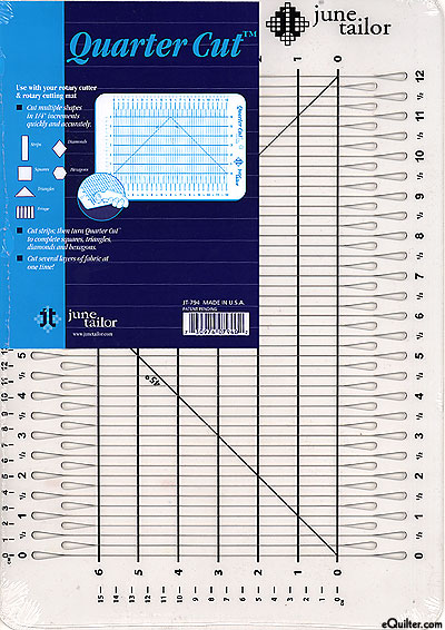 Slotted Ruler by June Tailor - Quarter Cut