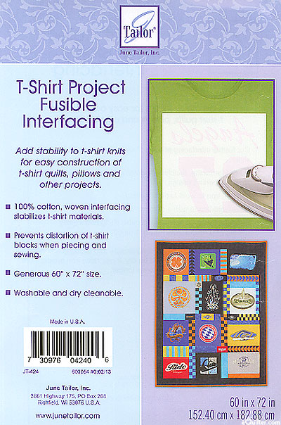 T-Shirt Project Fusible Interfacing - June Tailor