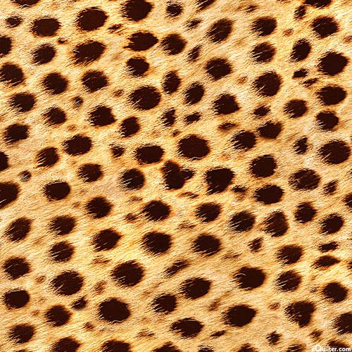 Animal Kingdom - Cheetah Spots - Savannah Tan - DIGITAL PRINT
