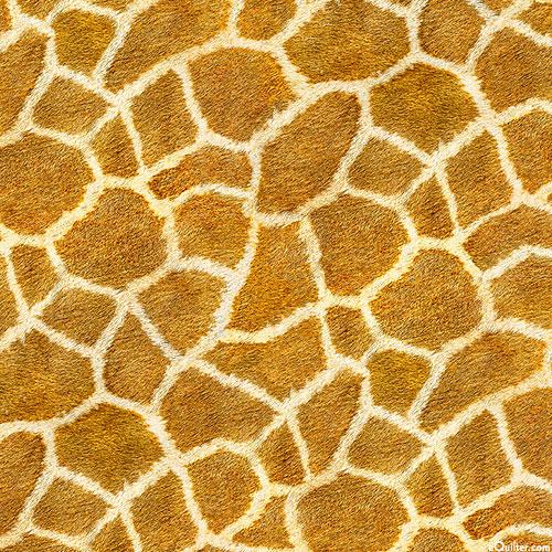 Animal Kingdom - Giraffe Hide - Ochre - DIGITAL PRINT