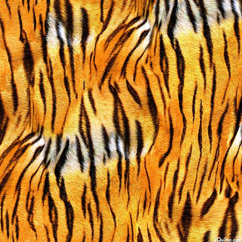 Animal Kingdom - Powerful Tiger Stripes - Orange - DIGITAL PRINT