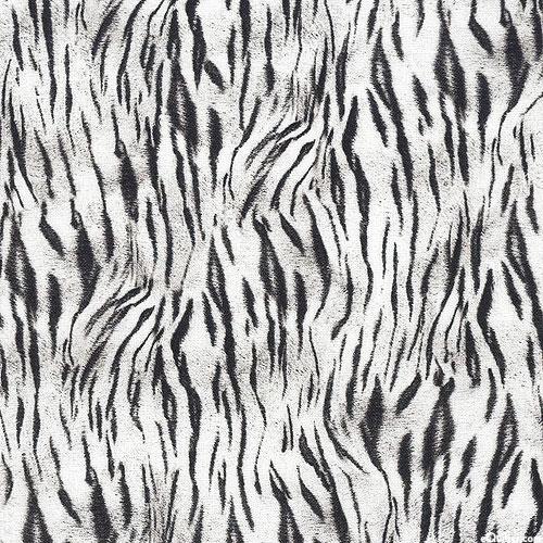 Animal Kingdom - Tiger Stripes Mini - White - DIGITAL PRINT