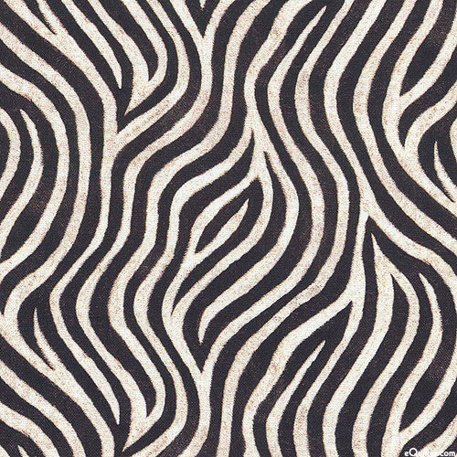 Animal Kingdom - Zebra Swirls Mini - Black- DIGITAL PRINT