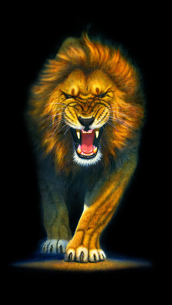 "Animal Kingdom - King of Lions - 24"" x 44"" PANEL - DIGITAL"