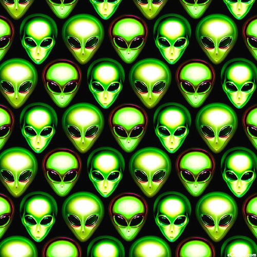 Area 51 - Little Green Men Small - Black
