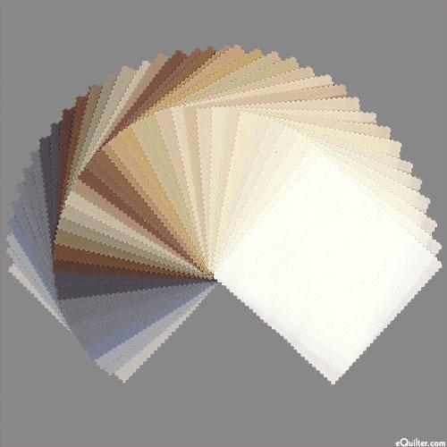"Kona Cotton Palette - Neutrals - 5"" Charm Pack"