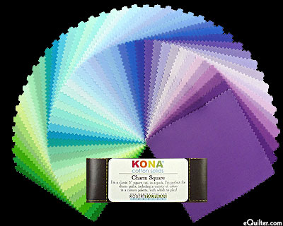 Kona Cotton Solids - Cool Sunset Palette - Charm Pack