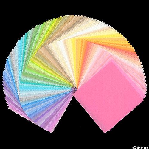 "Kona Cotton Palette 101 - Pastel - 5"" Charm Pack"