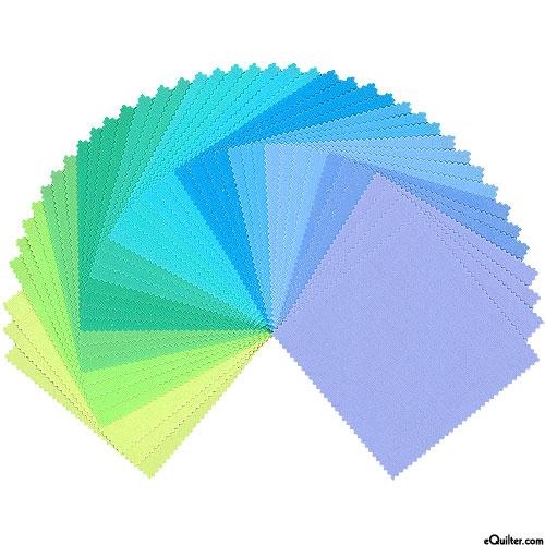 "Kona Cotton Palette - Mermaid Shores - 5"" Charm Pack"