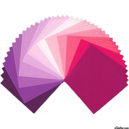 "Kona Cotton Palette - Wildberry - 5"" Charm Pack"