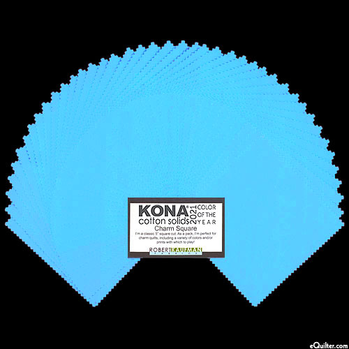 """2021 Kona Color of the Year - Horizon Blue - 5"""" Charm Pack"""
