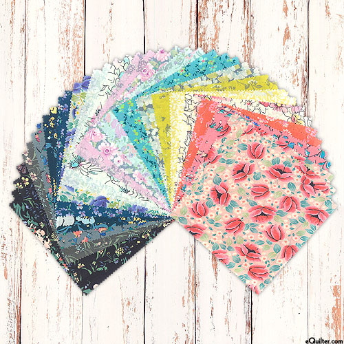 """London Calling - 2021 Colorstory - COTTON LAWN - 5"""" Charms"""