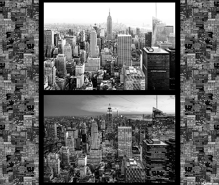 "Cityscapes - NYC - Black - 36"" x 44"" PANEL - DIGITAL PRINT"