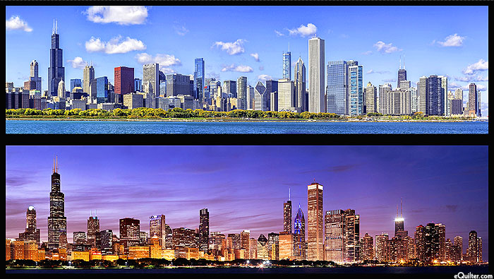 "Cityscapes - Chicago Skylines - 24"" x 44"" PANEL - DIGITAL PRINT"
