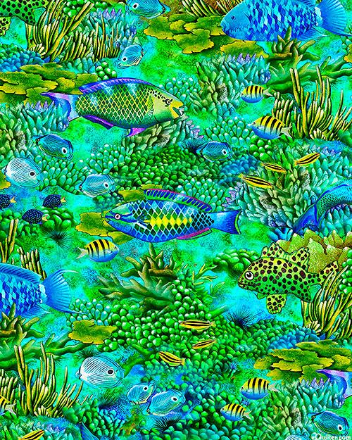 Coral Canyon - Parrot Fish Jungle - Kelly - DIGITAL PRINT