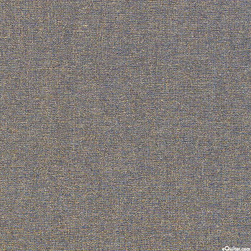 """Gilded - Shimmering Chambray - Stonewash Blue/Gold - 57"""" WIDE"""