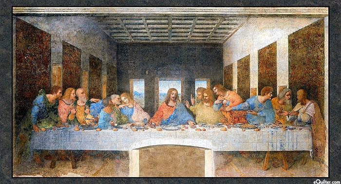 "Leonardo Da Vinci - Last Supper - 24"" x 44"" PANEL"