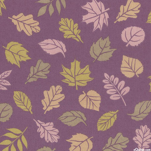 Cozy Outdoors - Changing Leaves - Amethyst Purple - FLANNEL